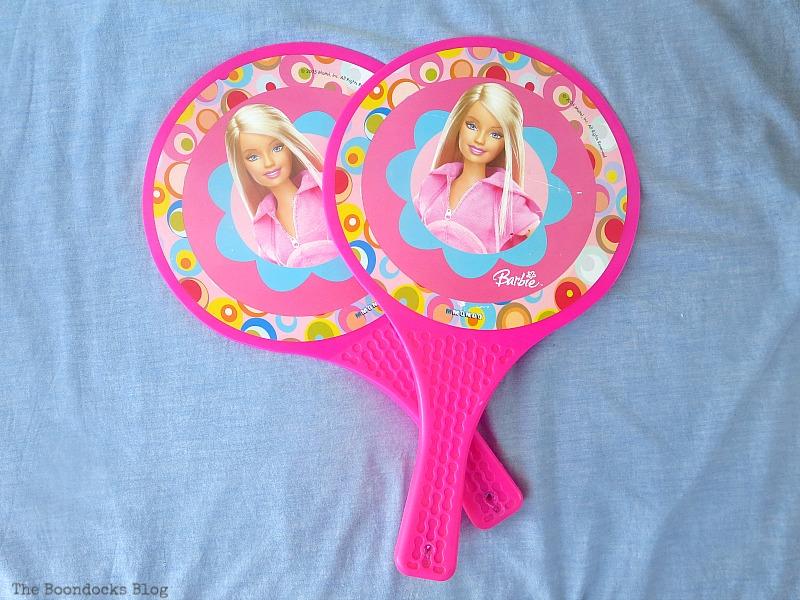 Before, Christmas in July - Repurposed Barbie Paddles www.theboondocksblog.com