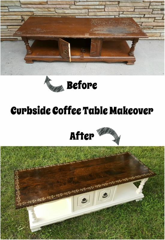 If you're looking for painted coffee table makeover ideas don't pass by this transformation! With a little paint this curbside find got a brand new life! www.theboondocksblog.com