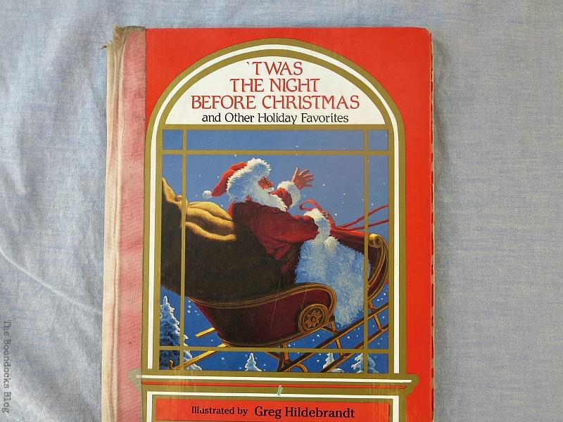 An old Christmas book, Christmas in July - Repurposed Barbie Paddles www.theboondocksblog.com
