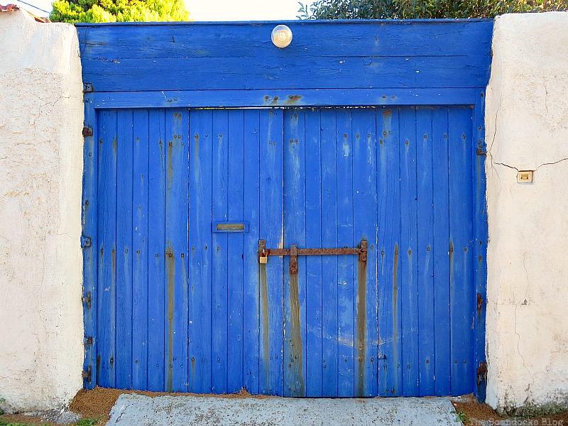 Blue wooden gate, Doors and a Sorta Blogoversary www.theboondocksblog.com