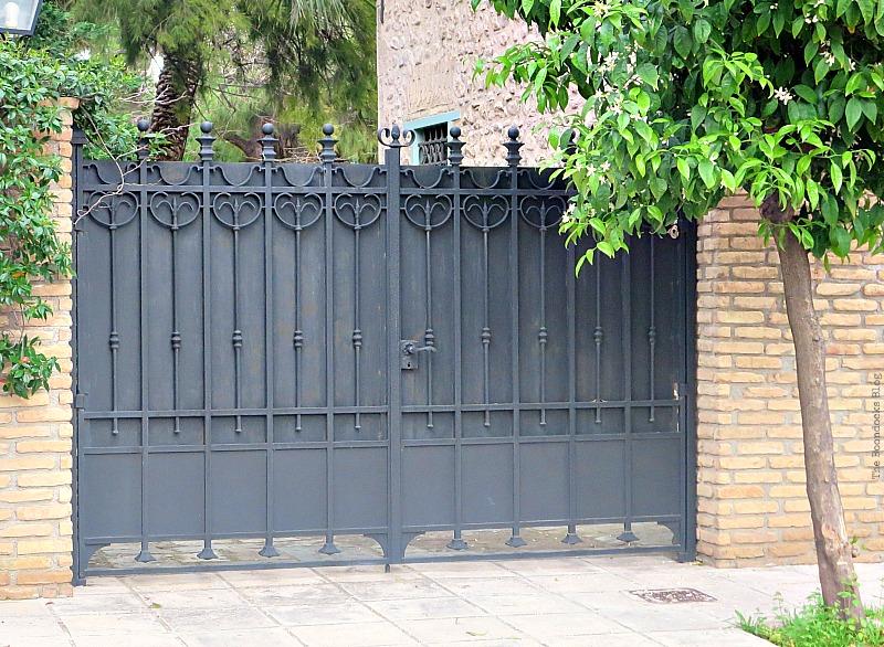 Metal gate, Doors and a Sorta Blogoversary www.theboondocksblog.com