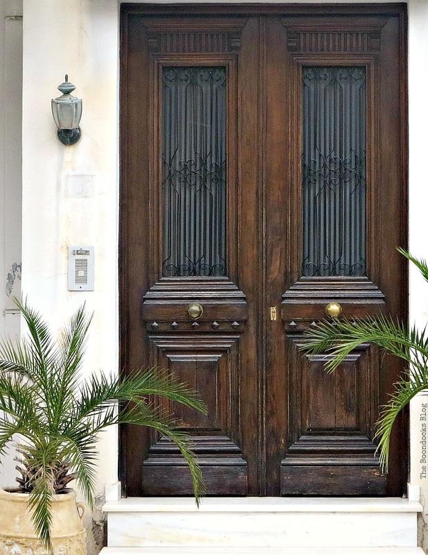 Traditional wooden door, photo essay on Doors and a Sorta Blogoversary www.theboondocksblog.com