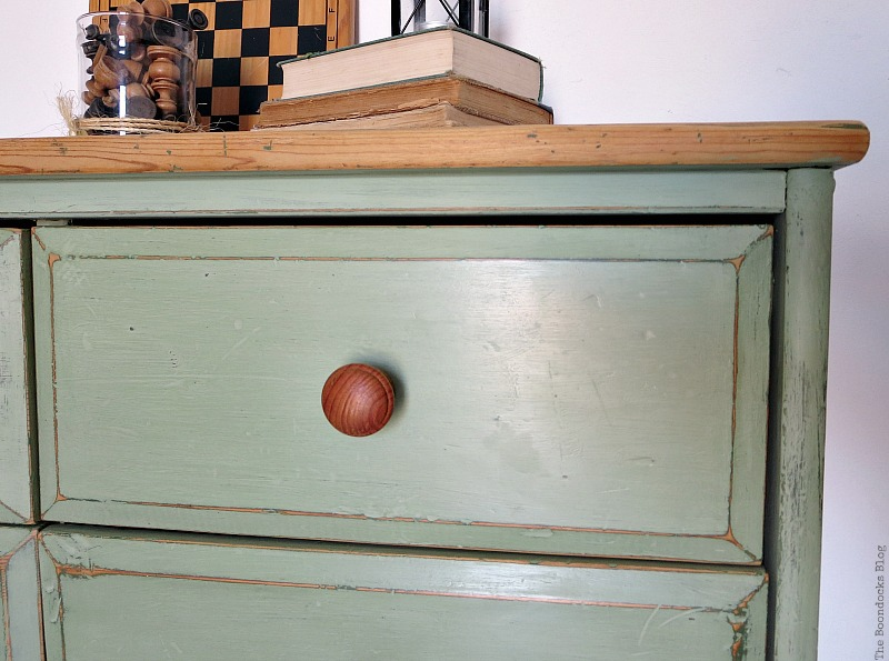 Close up of corner, How to save an Ikea Pine Dresser www.theboondocksblog.com