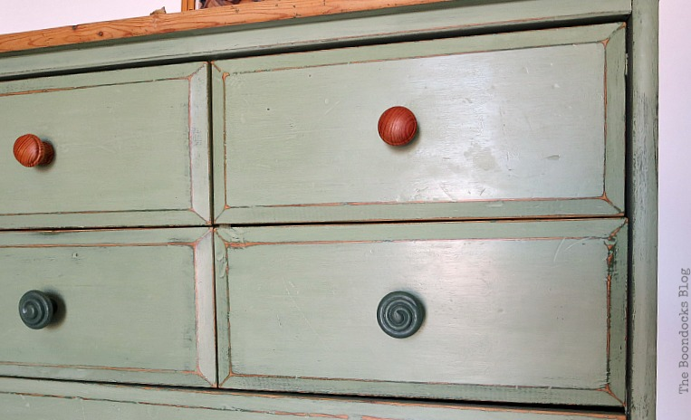 different knobs, How to save an Ikea Pine Dresser www.theboondocksblog.com