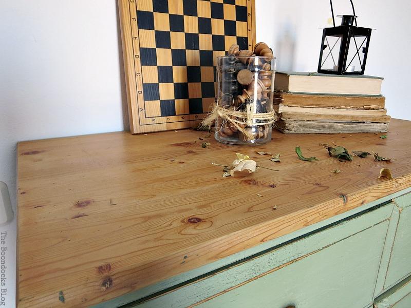 Top of dresser, How to save an Ikea Pine Dresser www.theboondocksblog.com
