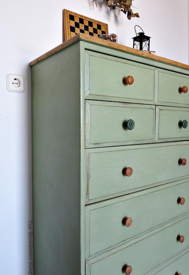 dresser corner, How to save an Ikea Pine Dresser www.theboondocksblog.com