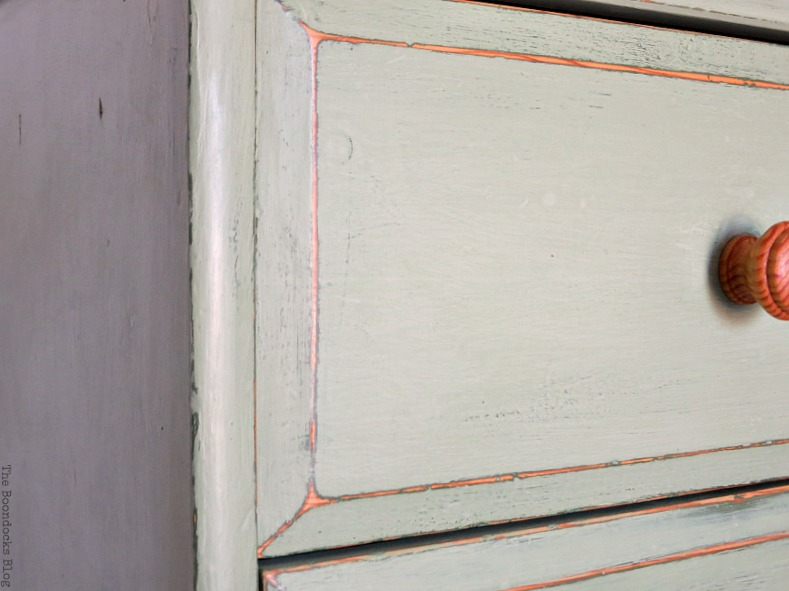 close up of side, How to save an Ikea Pine Dresser www.theboondocksblog.com