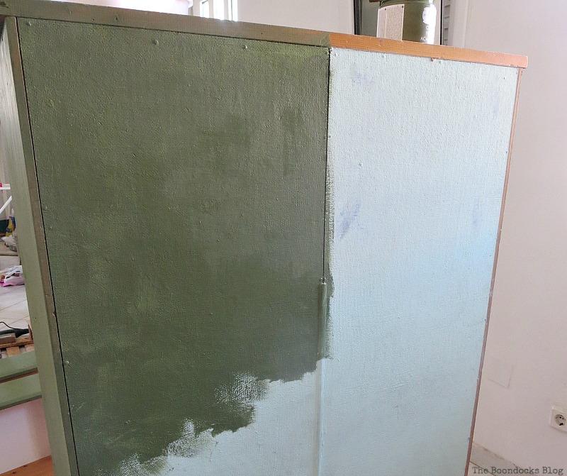Dark green paint, How to save an Ikea Pine Dresser www.theboondocksblog.com
