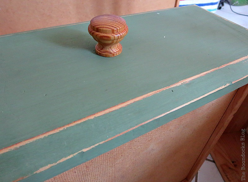 distressing the drawer, How to save an Ikea Pine Dresser www.theboondocksblog.com