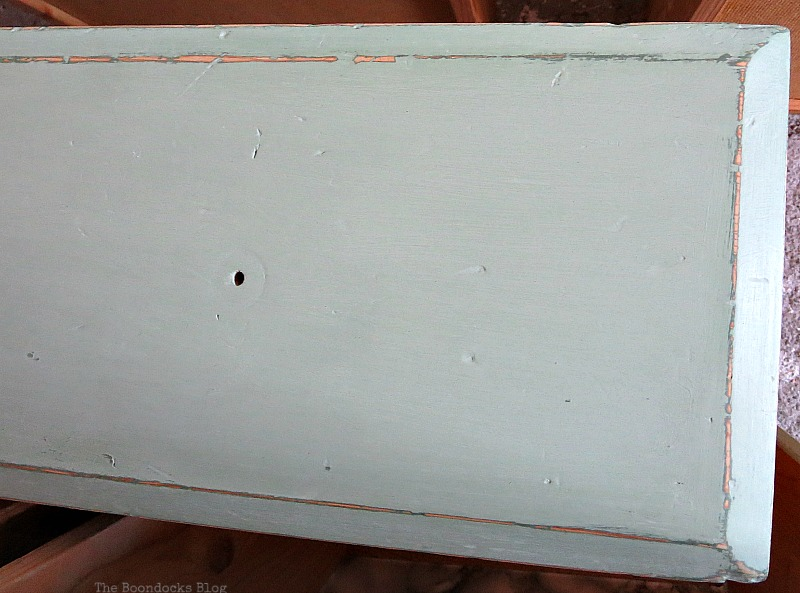 The lighter paint goes on, How to save an Ikea Pine Dresser www.theboondocksblog.com