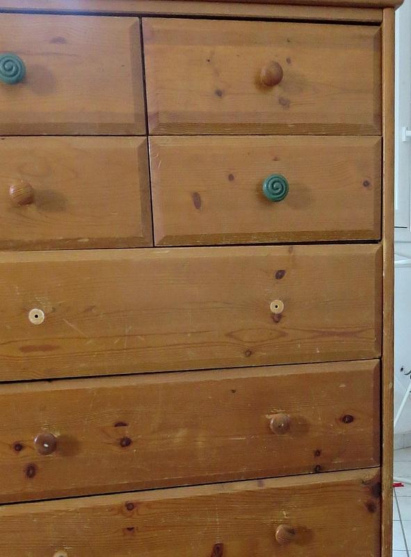 dresser before, How to save an Ikea Pine Dresser www.theboondocksblog.com