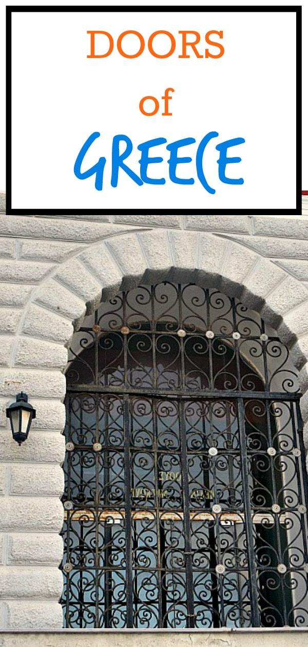 Stone and metal gate with door, The doors of Greece, #photoessay #photography #Greece #travel #global #doors #doorstyles www.theboondocksblog.com