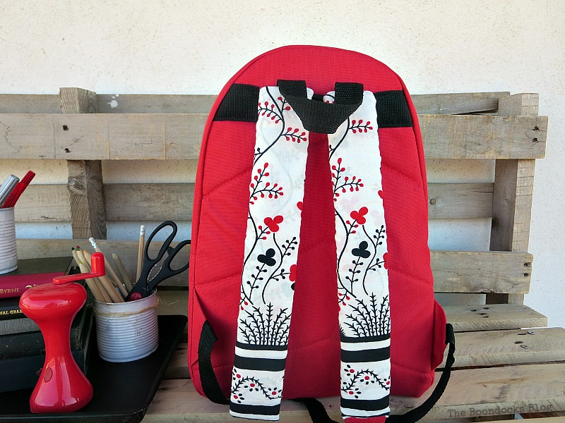 The pretty straps, School Bag Makeover, Int'l Bloggers Club Challenge www.theboondocksblog.com