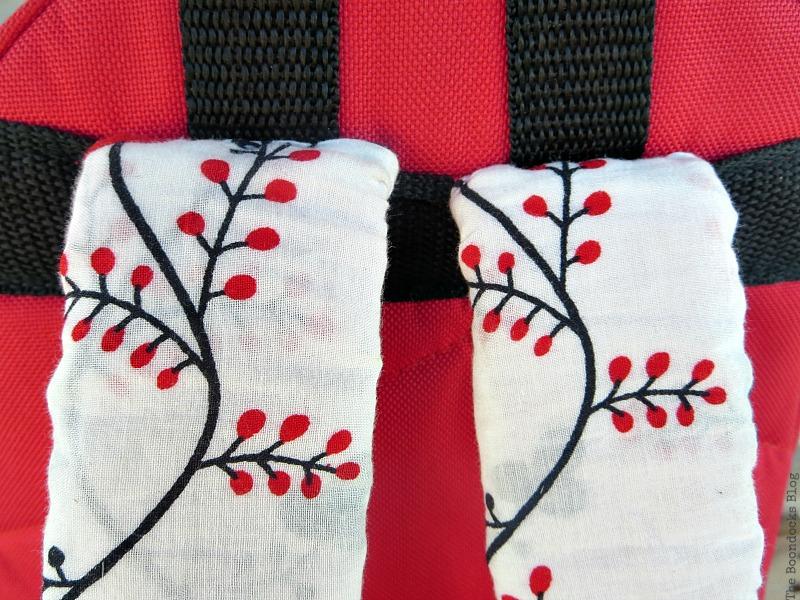 the sewn straps, School Bag Makeover, Int'l Bloggers Club Challenge www.theboondocksblog.com