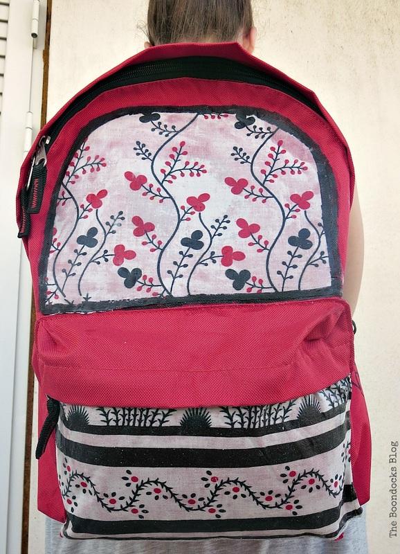 the bag hung on her back, School Bag Makeover, Int'l Bloggers Club Challenge www.theboondocksblog.com