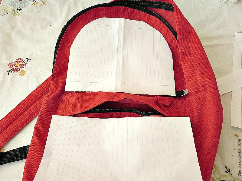 making templates, School Bag Makeover, Int'l Bloggers Club Challenge www.theboondocksblog.com