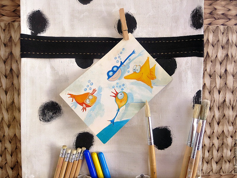 A post card, How to make a back to school hanging organizer, Back to School blog Hop www.theboondocksblog.com