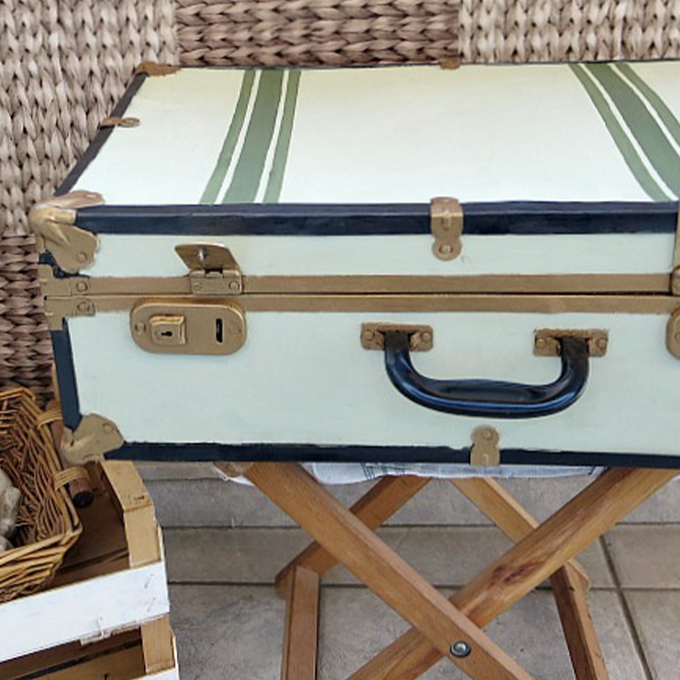 Vintage suitcase.