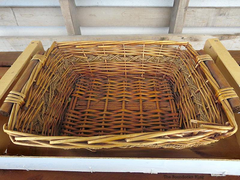 The basket, Easy DIY Fall Eucalyptus Vignette www.theboondocksblog.com