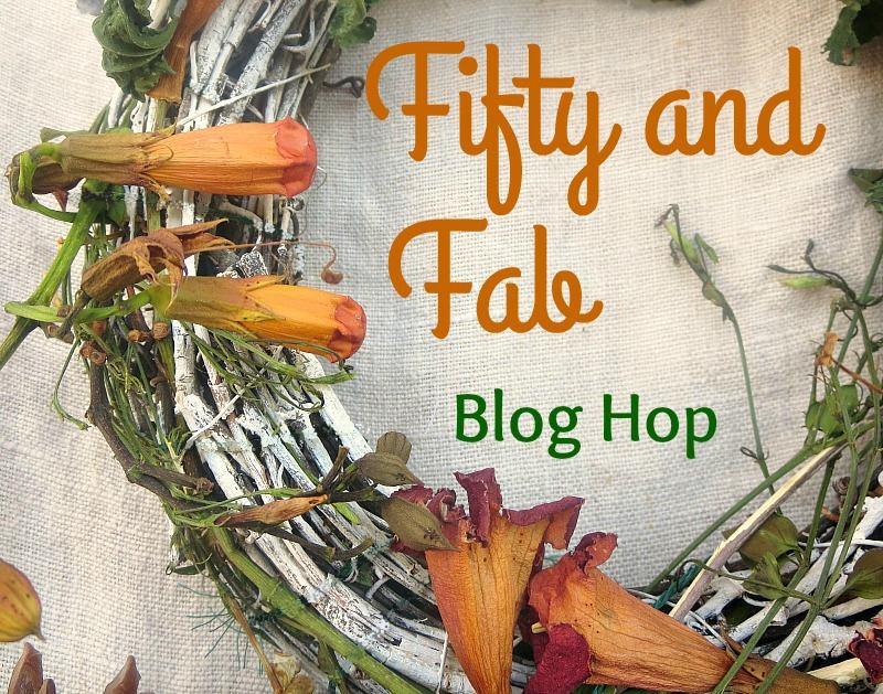 Fifty and Fab Blog Hop Logo www.theboondocksblog.com
