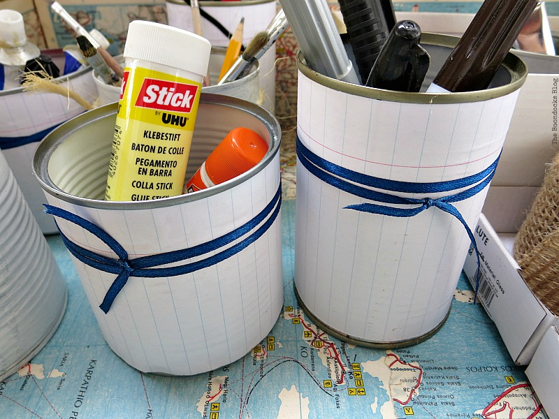 Using tin cans for storage, What's Inside the Vintage Suitcase? www.theboondocksblog.com