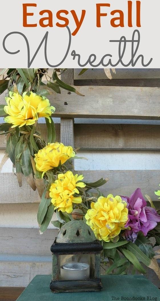 Easy fall wreath, Easy Fall Wreath Int'l Bloggers Club www.theboondocksblog.com