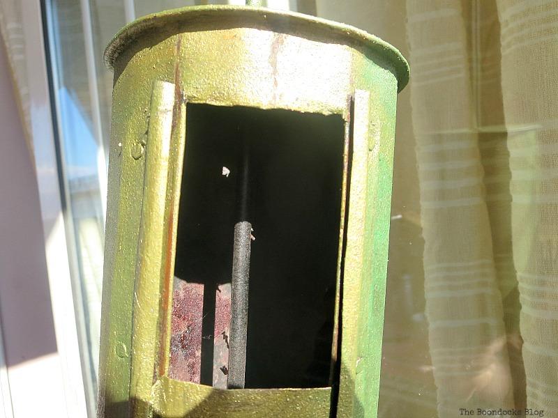 Opened coffee roaster, A Breen Vintage Coffee Roaster Repurpose www.theboondocksblog.com