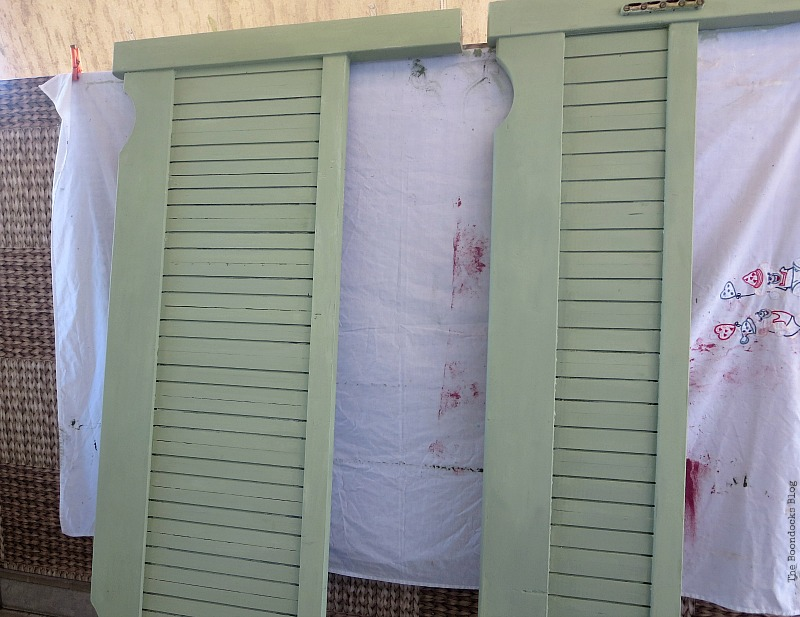 Paintef bed frame, How to Makeover an Old Wooden Bed Frame www.theboondocksblog.com