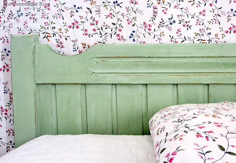 Left side of headboard, How to Makeover an Old Wooden Bed Frame www.theboondocksblog.com