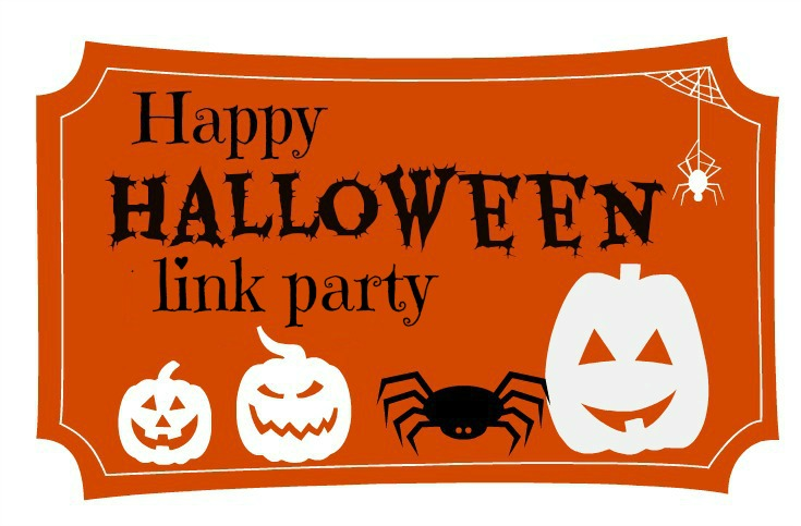 Happy Halloween Link Party Logo www.theboondocksblog.com