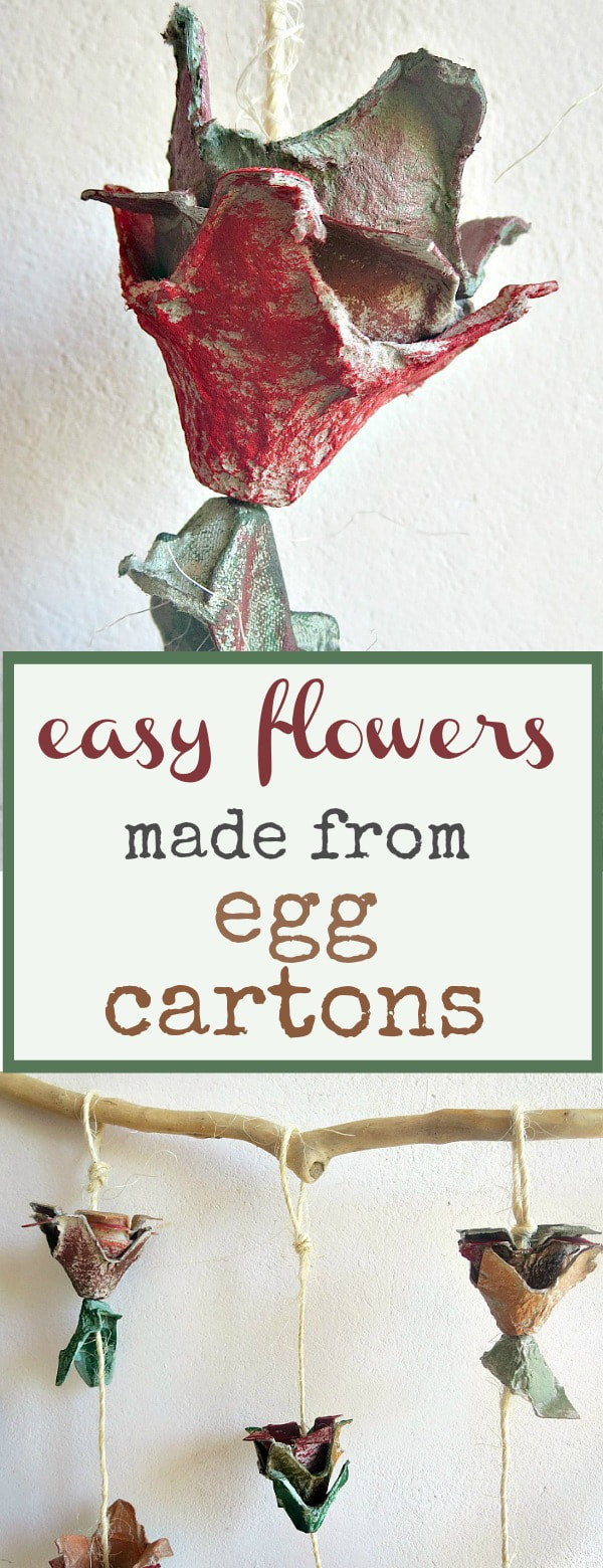 A flower made from an Egg carton, How to make easy fall flowers using egg cartons, #easycraft #eggcartoncraft #eggcartonflowers #easyflowers #paintedeggcartonflowers www.theboondocksblog.com