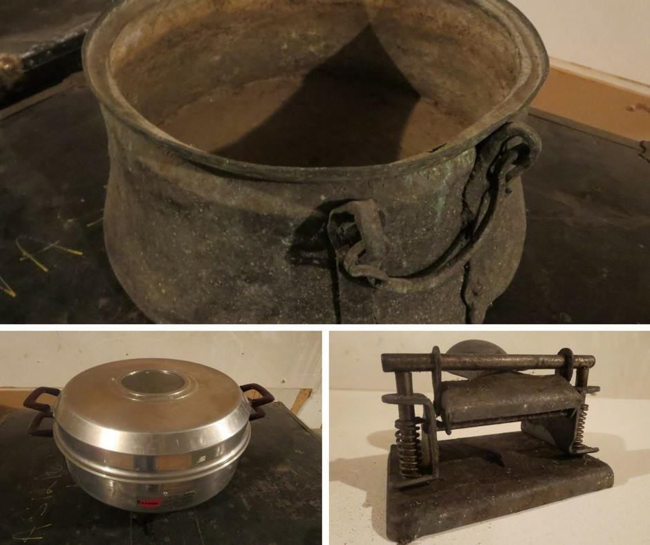 Selection for the gift swap, A repurposed Antique Cauldron for Christmas theboondocksblog