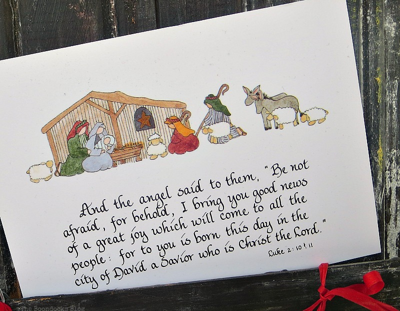A Christmas card tucked in, A Display for Christmas Cards and Ornaments www.theboondocksblog.com