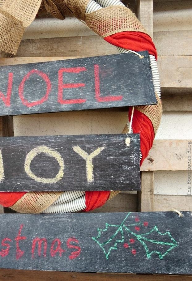 Noel Joy, Easy Chalkboard signs for the Holidays www.theboondocksblog.com