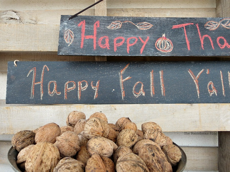 Thanksgiving and fall, Easy Chalkboard signs for the Holidays www.theboondocksblog.com