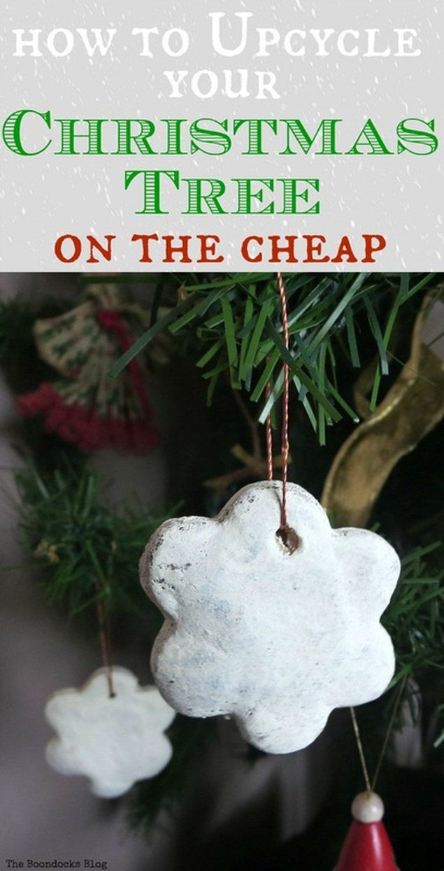Ways to makeover your tree without spending a fortune, How to Upcycle your Christmas Tree on the cheap, www.theboondocksblog.com