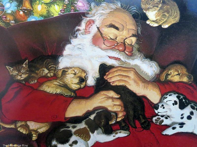 Santa postcard, Christmas Traditions in Greece, Int'l Bloggers Club www.theboondocksblog.com