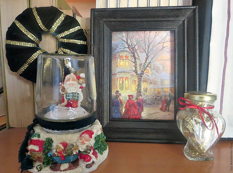 Snow globe made from jar, How to Repurpose your Decor for a Unique Christmas Look www.theboondocksblog.com