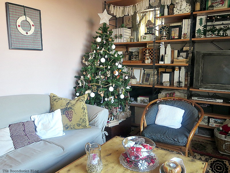 Living room, How to Repurpose your Decor for a Unique Christmas Look www.theboondocksblog.com