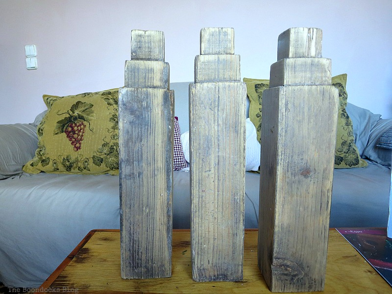 wooden legs, How to Repurpose your Decor for a Unique Christmas Look www.theboondocksblog.com