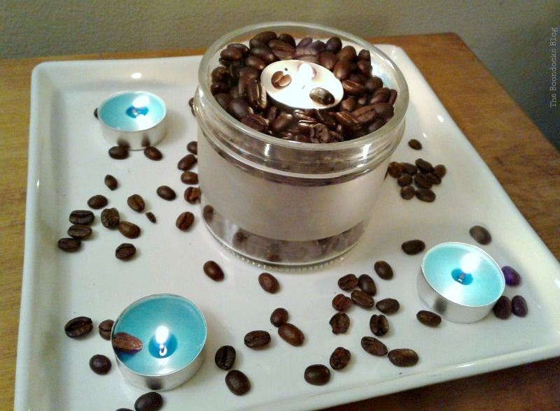 yummy smell of beans permeated the house, Coffee with Tealights please www.theboondocksblog.com