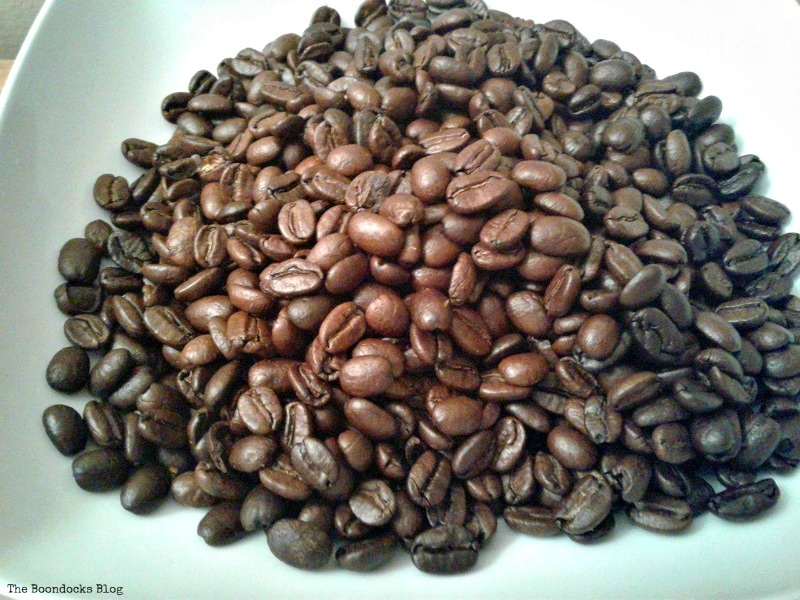 coffee beans, Coffee with Tealights please www.theboondocksblog.com