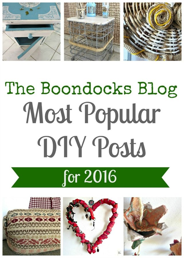 The Boondocks Blog Most Popular DIY Posts for 2016