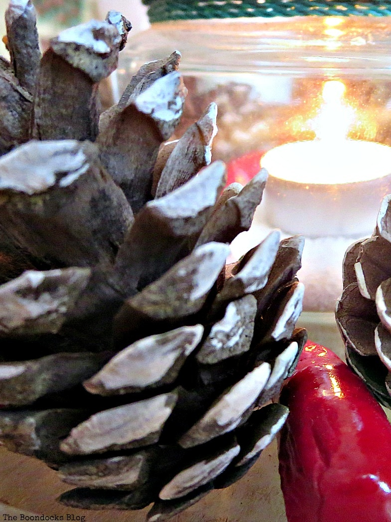 the light next to the pine cone, Facebook Photos for December www.theboondocksblog.com