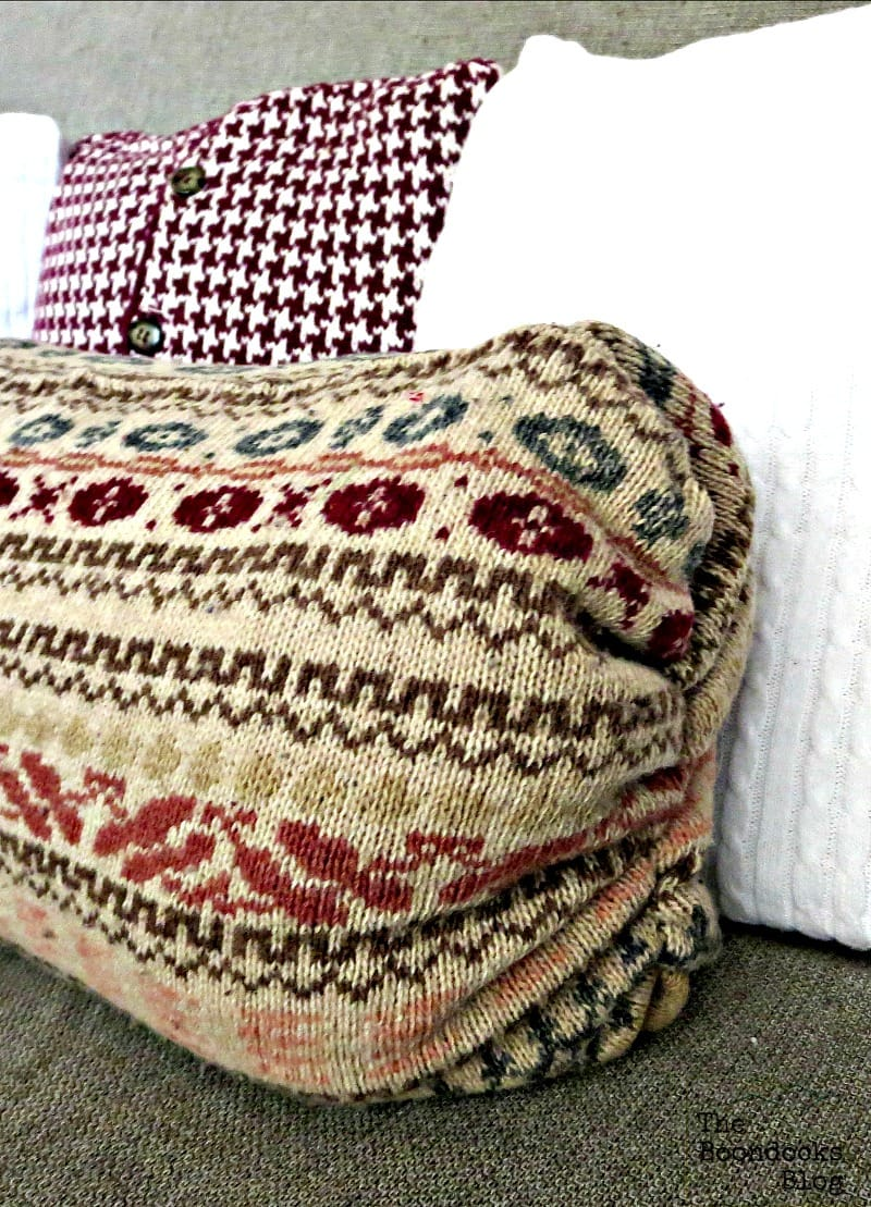 Sweater Pillow the Easy Way The Boondocks Blog Most Popular DIY Posts for 2016