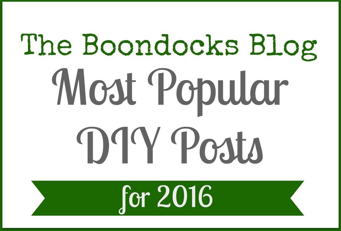 logo The Boondocks Blog Most Popular DIY Posts for 2016