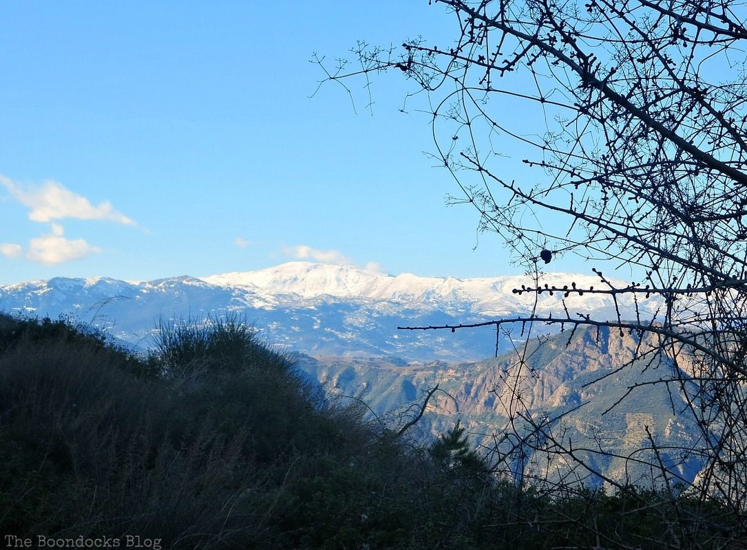 snow capped mountains in Greece, Facebook Photos for January www.theboondocksblog.com