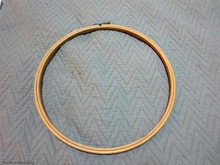 Wooden embroidery hoop.