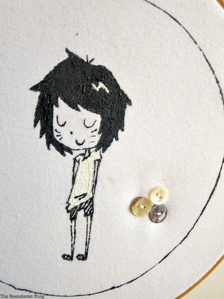t-shirt in hoop, An Easy Repurpose of a T-Shirt into Wall Art, www.theboondocksblog.com