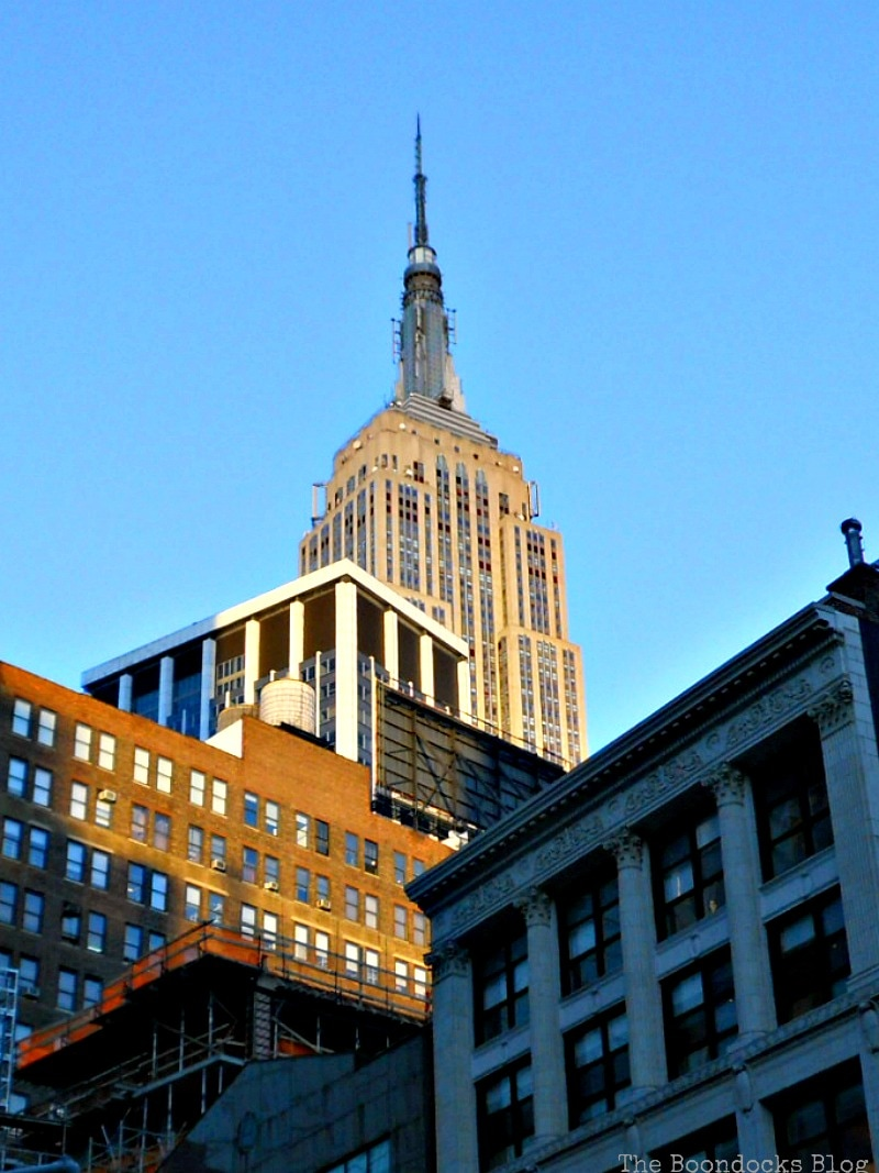 Looking up at the Empire State Building Facebook Photos for January www.theboondocksblog.com